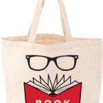 Tote Bag With Book Nerd Image